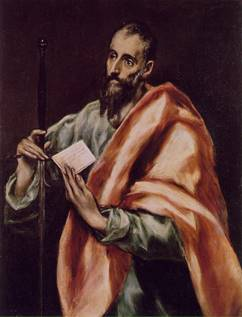 The Apostle Paul with his letter to the Galatians